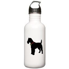 Christmas or Holiday Fox Terrier Silhouette Stainl