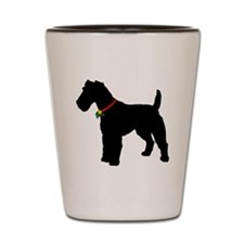 Christmas or Holiday Fox Terrier Silhouette Shot G