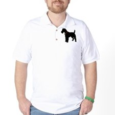 Christmas or Holiday Fox Terrier Silhouette T-Shirt