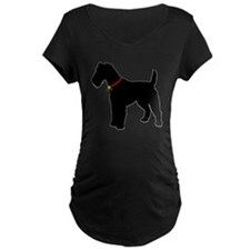 Christmas or Holiday Fox Terrier Silhouette Matern