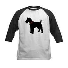 Christmas or Holiday Fox Terrier Silhouette Tee