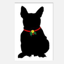 Christmas or Holiday French Bulldog Silhouette Pos