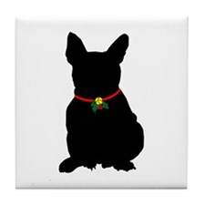 Christmas or Holiday French Bulldog Silhouette Til