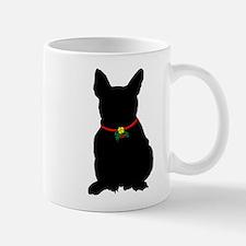 Christmas or Holiday French Bulldog Silhouette Mug