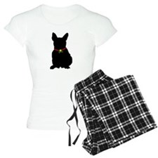 Christmas or Holiday French Bulldog Silhouette Wom