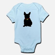 Christmas or Holiday French Bulldog Silhouette Inf