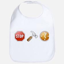 Stop - Hammer - Time Bib