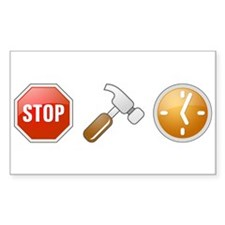Stop - Hammer - Time Rectangle Decal