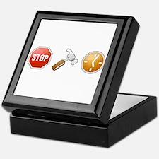 Stop - Hammer - Time Keepsake Box