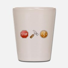 Stop - Hammer - Time Shot Glass