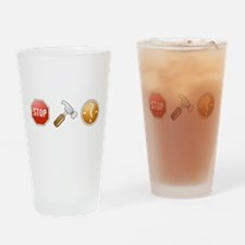 Stop - Hammer - Time Drinking Glass