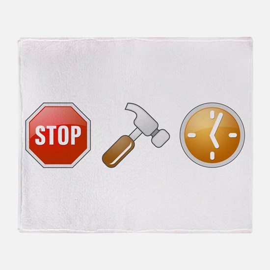 Stop - Hammer - Time Throw Blanket