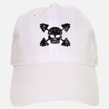 Weightlifting Skull Baseball Baseball Cap