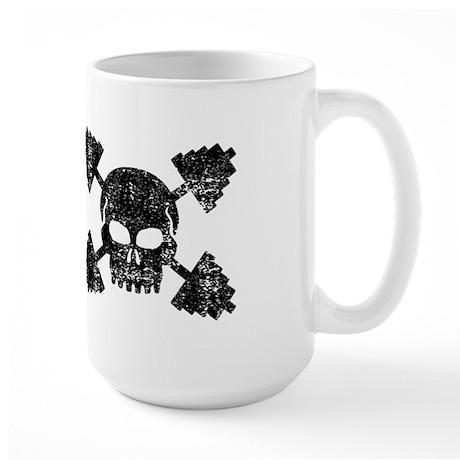 Weightlifting Skull Large Mug