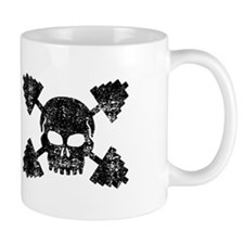 Weightlifting Skull Mug