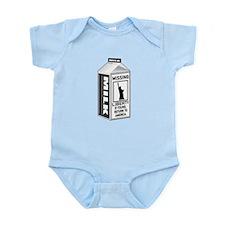 Missing Liberty Milk Carton Infant Bodysuit
