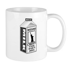 Missing Liberty Milk Carton Mug