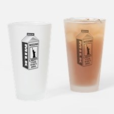 Missing Liberty Milk Carton Drinking Glass