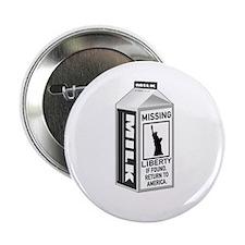 "Missing Liberty Milk Carton 2.25"" Button"
