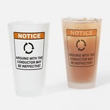 Conductor / Argue Drinking Glass