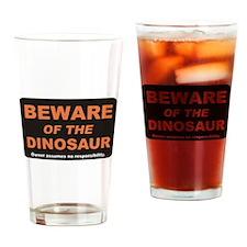 Beware / Dinosaur Drinking Glass