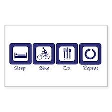 Sleep- Bike- Eat- Repeat Rectangle Decal