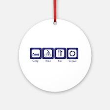 Sleep- Bike- Eat- Repeat Ornament (Round)