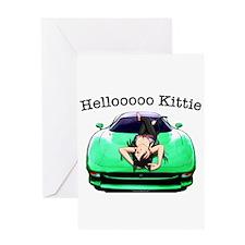 XJ220 Helloooo Kittie Greeting Card