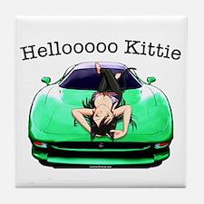 XJ220 Helloooo Kittie Tile Coaster