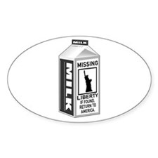 Missing Liberty Milk Carton Decal