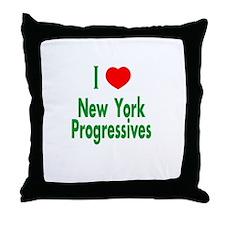 I Love New York Progressives Throw Pillow
