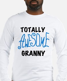 Blue Awesome Granny Long Sleeve T-Shirt