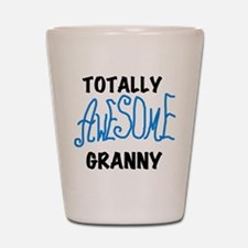 Blue Awesome Granny Shot Glass