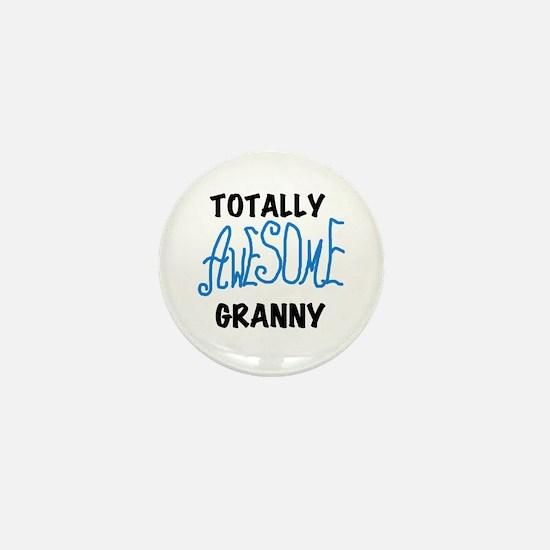 Blue Awesome Granny Mini Button