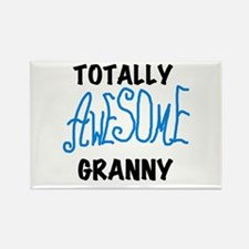 Blue Awesome Granny Rectangle Magnet