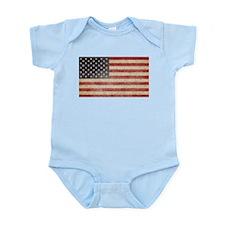 US Faded Flag Infant Bodysuit