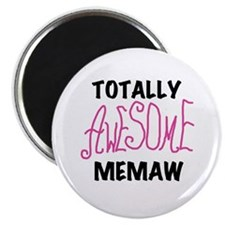 Pink Awesome Memaw Magnet
