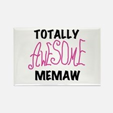 Pink Awesome Memaw Rectangle Magnet