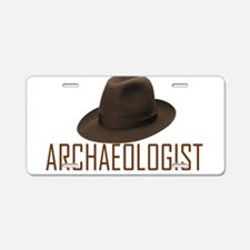 Archaeologist Aluminum License Plate