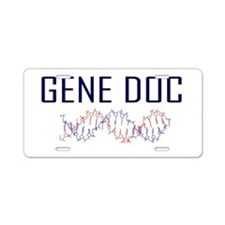 Geneticist Aluminum License Plate
