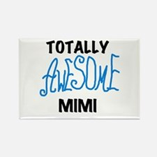 Blue Awesome Mimi Rectangle Magnet