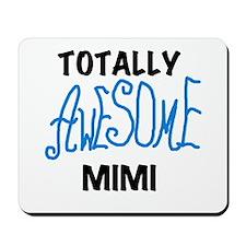 Blue Awesome Mimi Mousepad