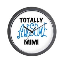 Blue Awesome Mimi Wall Clock
