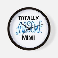 Blue Awesome Mimi Wall Clock