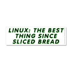 Linux: Sliced bread Car Magnet 10 x 3