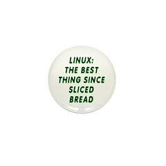 Linux: Sliced bread Mini Button