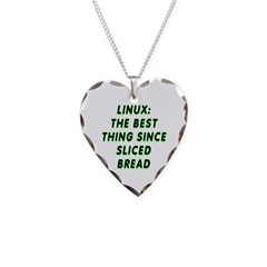 Linux: Sliced bread Necklace