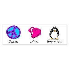 Peace Love and Penguins Bumper Bumper Sticker
