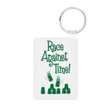 Race! Aluminum Keychain (2-sided)