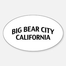 Big Bear City California Sticker (Oval)